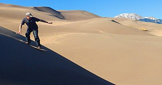 Great Sand Dunes National Park and Preserve - Sandboarding