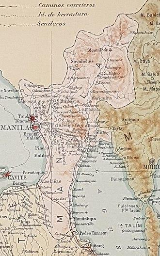 Manila (province) - Image: Manila Province
