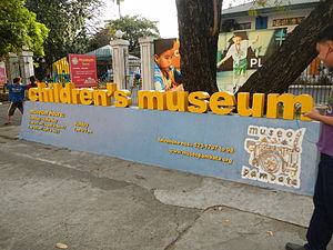 Museo Pambata - Sign for the Museo Pambata  children's museum, on Roxas Boulevard, Manila.