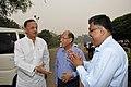 Manish Gupta with Emdadul Islam and Arijit Dutta Choudhury - MSE Golden Jubilee Celebration - Science City - Kolkata 2015-11-17 4903.JPG