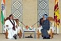 Manmohan Singh meeting the President of the Democratic Socialist Republic of Sri Lanka, Mr. Mahinda Rajapaksa (1).jpg