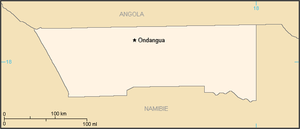 Ovamboland - Map of the bantustan.