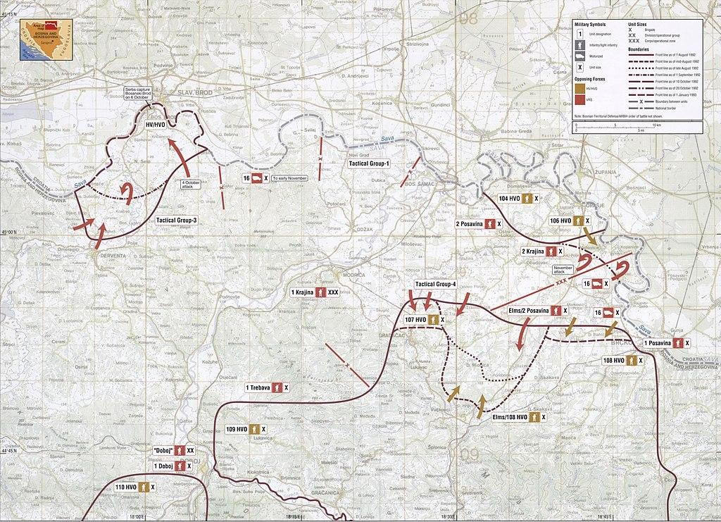 File:Map 11 - Bosnia - Posavina Corridor - August 1992-January ...
