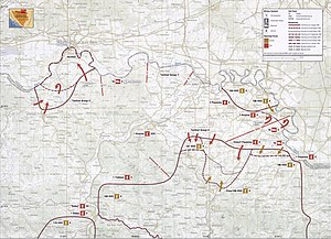 Operation Corridor 92 - Map of the final stages of Operation Corridor 92 and subsequent operations in the area in late 1992