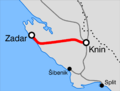 Map Knin-Zadar railway.png