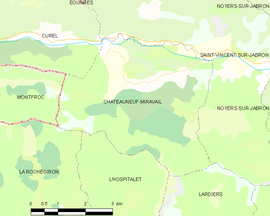 Mapa obce Châteauneuf-Miravail
