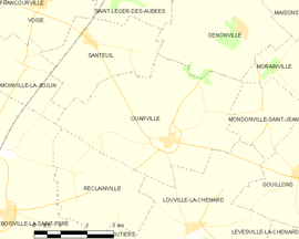 Mapa obce Ouarville