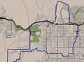 Map of Chatsworth neighborhood, Los Angeles, California.png