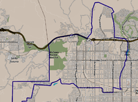 Chatsworth neighborhood as mapped by the Los Angeles Times