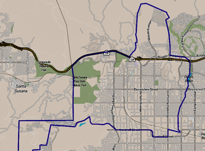 How to get to Chatsworth, CA with public transit - About the place