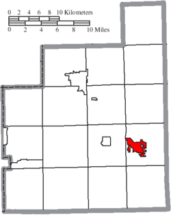 Location of Middlefield in Geauga County
