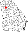 Map of Georgia highlighting Cobb County.svg