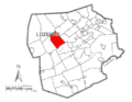 Map of Luzerne County, Pennsylvania Highlighting Hunlock Township.PNG