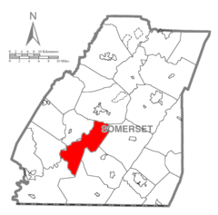 Map of Somerset County, Pennsylvania highlighting Black Township.PNG