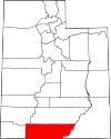 State map highlighting Kane County