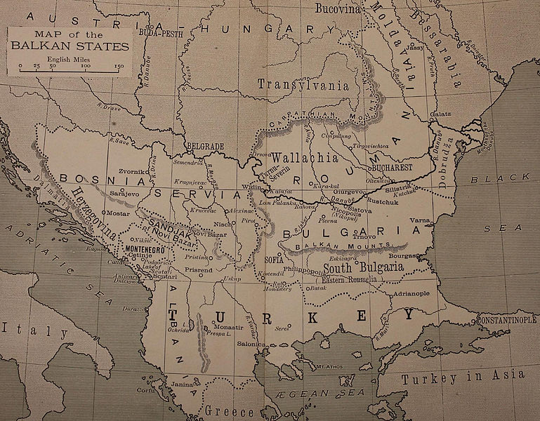 FileMap Of The Balkan States Miller William Jpg - 1896 map of us