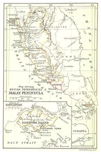 British dependencies in Malaya and Singapore, 1888