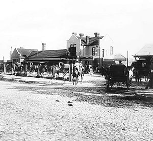 "Mar del Plata railway and bus station - The original Mar del Plata station (""Norte""), opened in 1886."