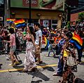 Marchers in the Toronto Pride Parade 2014.jpg