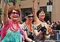 Margaret Cho, Theresa Sparks, Violet Blue, Pride 2008.jpg