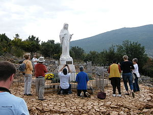 Medjugorje - Statue of Virgin Mary at Podbrdo, place of apparition