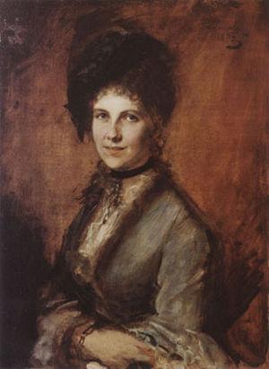 Marie von Schleinitz - Marie von Schleinitz; painting by Franz von Lenbach, 1873