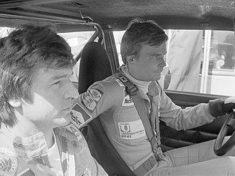 Markku Alén - Markku Alén (r.) and navigator Ilkka Kivimäki (1976)
