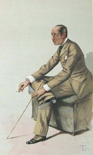 George Spencer-Churchill, 8th Duke of Marlborough - Image: Marquis of Blandford Vanity Fair 18 June 1881