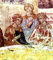 Marriage at Cana Monastery Kalenic unnamed master painter app 1413 Sumadija region Serbia.jpg