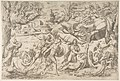 Mars and Rhea Silvia- in the centre Mars holds a shield and sword, Rhea Silvia sleeping, Apollo in his chariot upper left MET DP812777.jpg