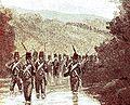 Mars van het zevende bataljon door de Sangsit.jpg