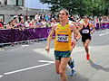 Martin Dent (Australia) ^ Song-Chol Pak (Republic of Korea) - London 2012 Men's Marathon.jpg