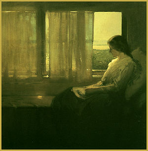 Xavier Martínez - Afternoon in Piedmont (Elsie Whitaker Martinez), ca. 1908