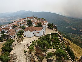 Marvão as seen from its castle