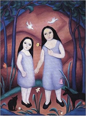 Mary Tannahill - Mary Harvey Tannahill, The Sisters, 1920, oil on canvas, Greenville County Museum of Art, South Carolina