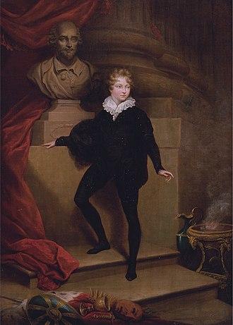 Master Betty - Master Betty as Hamlet (James Northcote, 1805)