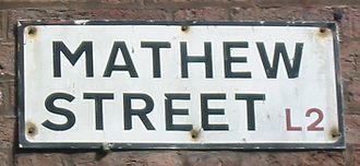 Mathew Street - Mathew Street sign