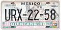 Matrícula automovilística México 2002 Quintana Roo URX-22-58.jpg