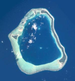 Maupihaa island in French Polynesia