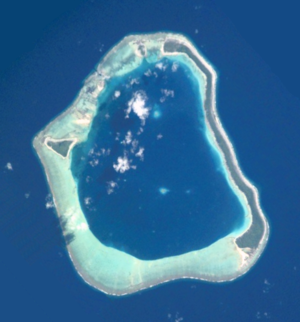 Maupihaa - NASA picture of the island of Maupihaa Atoll