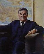 Maurice Blackburn oilpainting1942 (cropped)