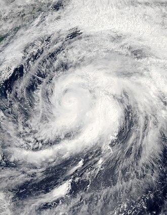 2012 Pacific typhoon season - Image: Mawar Jun 4 2012 0430Z