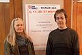 Maxim Astrakhantsev and Mila Kosmochevskaya (Central House of Cinema).jpg