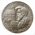 Medal. Theodore Zalkalne in Florence. K. Baumanis. Obverse.png