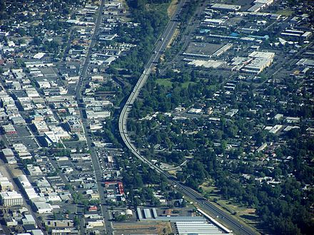 The I-5 viaduct in downtown Medford Medford Viaduct.jpg