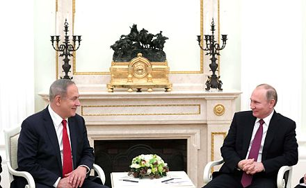Putin with Israeli Prime Minister Benjamin Netanyahu, Moscow, 9 March 2017 Meeting with Prime Minister of Israel Benjamin Netanyahu 3.jpg