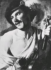 Violinplayer with Glass
