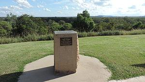 John Gilbert (naturalist) - Memorial to John Gilbert, Gilbert's Lookout, Taroom, 2014