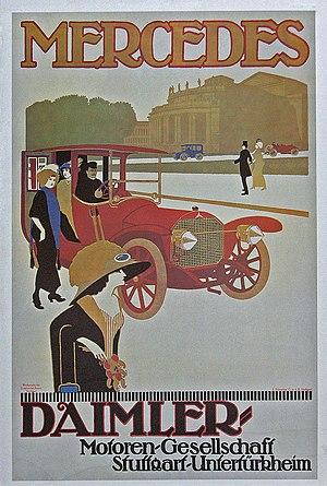 Daimler-Motoren-Gesellschaft - Daimler Motoren Gesellschaft Poster for a Mercedes Double Phaeton (1908)