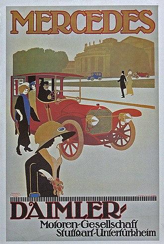 Daimler Motoren Gesellschaft - Daimler Motoren Gesellschaft Poster for a Mercedes Double Phaeton (1908)